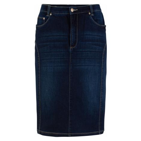 Strečová sukňa s pohodlným pásom bonprix