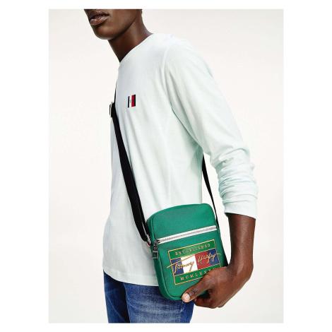 Tommy Hilfiger zelená pánska taška Signature Flag Mini Reporter