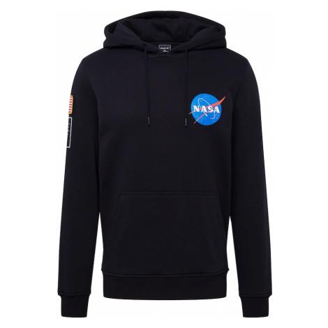 Mister Tee Mikina 'NASA'  čierna / nebesky modrá / biela / svetločervená