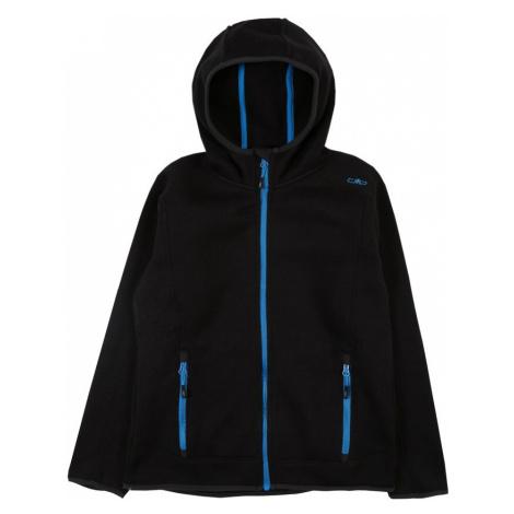 CMP Športová mikina so zipsom  čierna / modrá