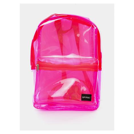 Ružový transparentný batoh Spiral