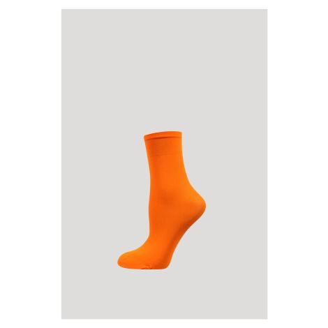 Silonové ponožky Micro 50 DEN oranžová