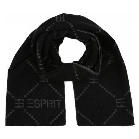 ESPRIT Šál  čierna / sivá