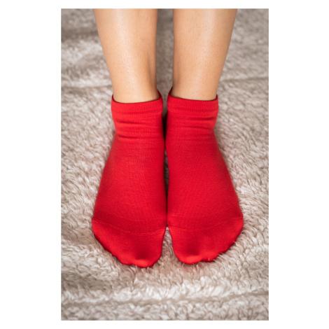 Barefoot ponožky krátke - červené 43-46