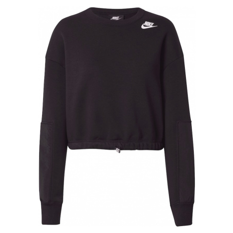Nike Sportswear Mikina  biela / čierna
