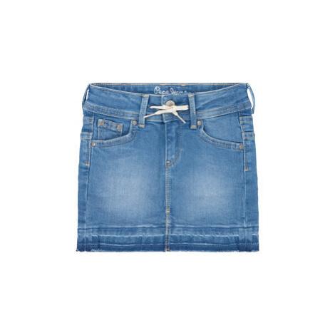 Pepe Jeans Sukňa Monia Bright PG900483 Modrá Regular Fit