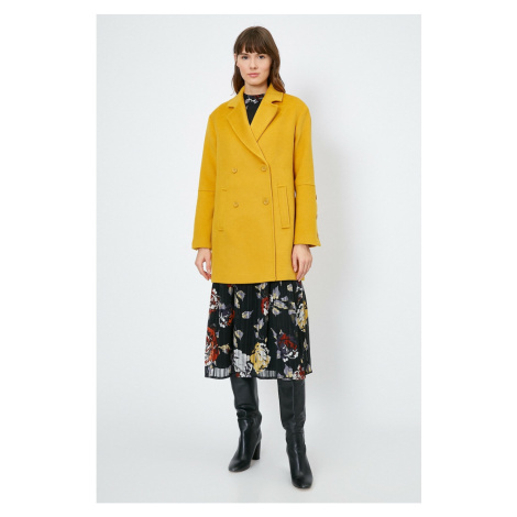 Koton Women's Yellow Coat