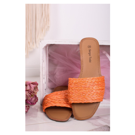Oranžové šľapky Lorene Sergio Todzi