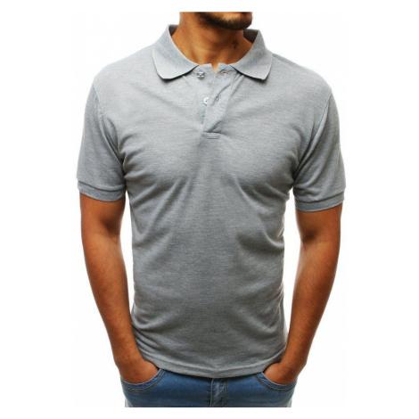 Svetlosivé pánske polo tričko px0203