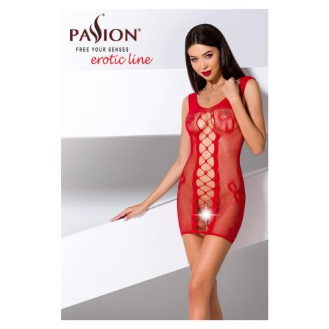 Červené sieťované šaty BS073 Passion