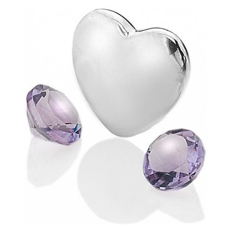 Hot Diamonds Element srdce s ametysty Anais Február EX121