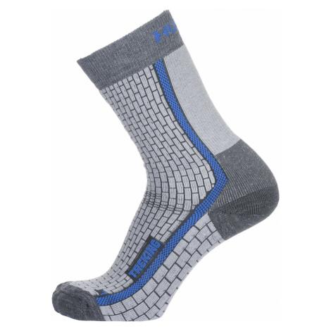 Husky Treking šedá/modrá, L(41-44) Ponožky