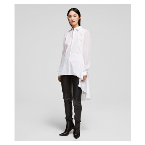 Košeľa Karl Lagerfeld Poplin Tunic Shirt W/ Peplum