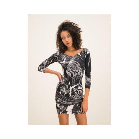 Just Cavalli Každodenné šaty S04CT0957 Čierna Slim Fit
