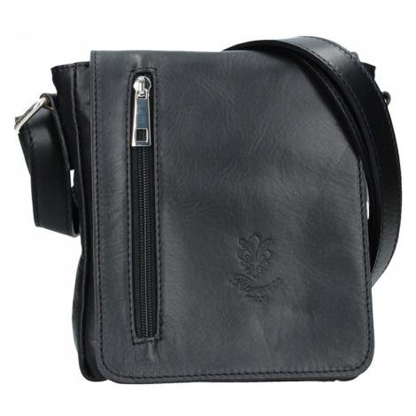 Pánska kožená taška Delami Matteo - čierna