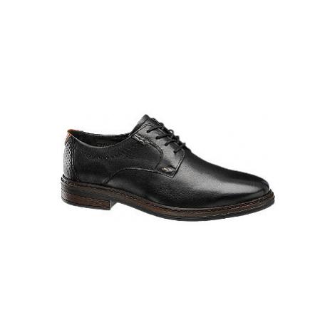 Čierna kožená spoločenská obuv Claudio Conti