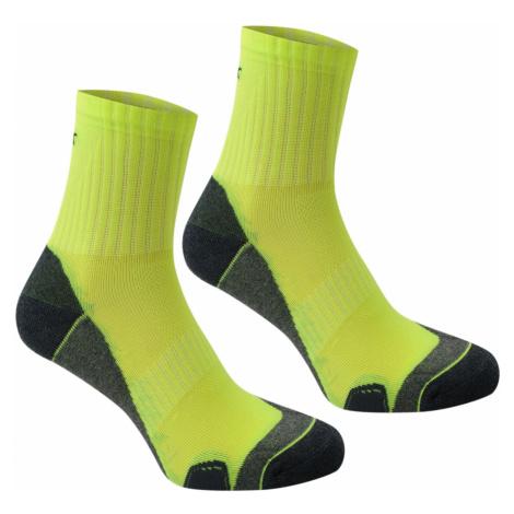Karrimor Dri Skin 2 Pack Running Socks Mens Fluo Yellow