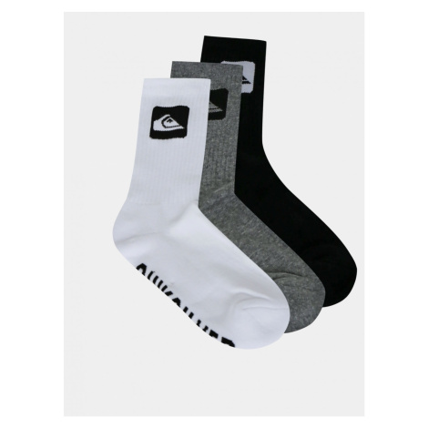 Quiksilver Black and Grey Sock Set