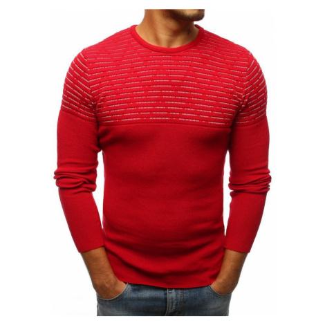 Originálny pánsky červený sveter wx1076