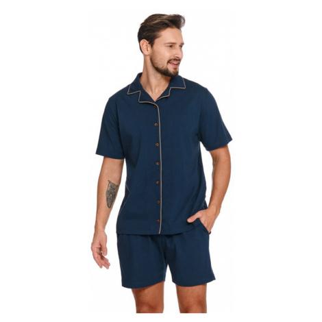Pánsky tmavomodrý pyžamový set PMB4261