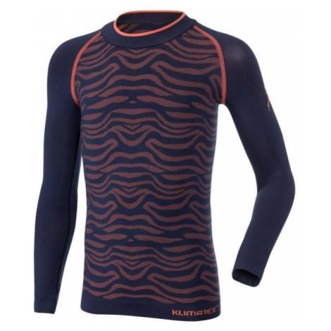 Klimatex ONELLA tmavo modrá - Dievčenské funkčné tričko