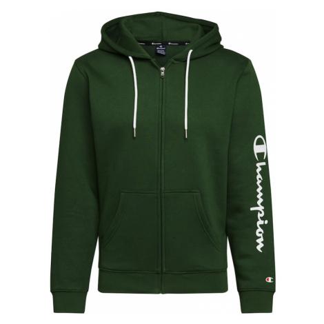 Champion Authentic Athletic Apparel Tepláková bunda  zelená / biela