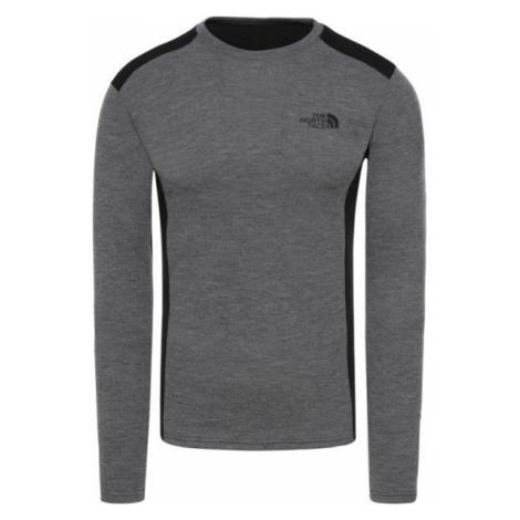 The North Face EASY L/S CREW NECK šedá - Pánske tričko s dlhým rukávom