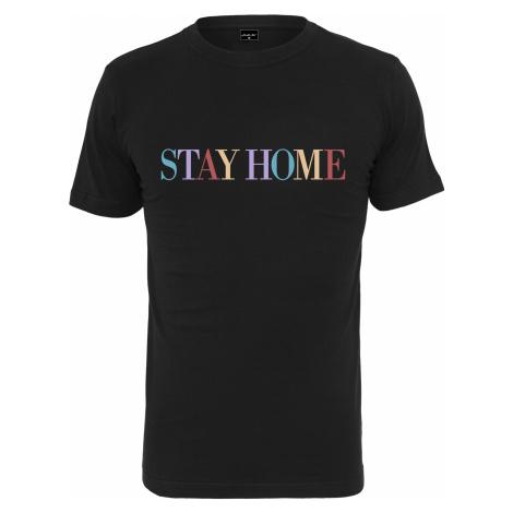 Unisex tričko MR.TEE Stay Home Wording Tee Farba: black