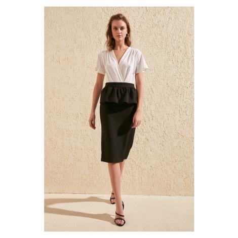 Trendyol Black Frill Detailed Skirt