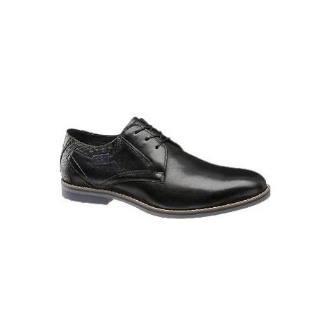 Čierna kožená spoločenská obuv AM SHOE