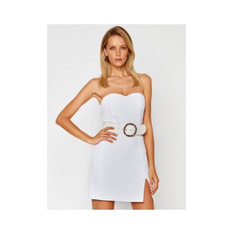 Elisabetta Franchi Koktejlové šaty TB-001-07E2-V499 Biela Slim Fit