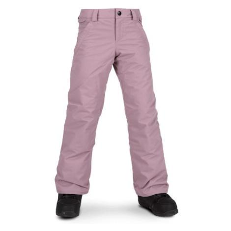 Volcom FROCHICKIDEE INS PNT ružová - Dievčenské lyžiarske/snowboardové nohavice
