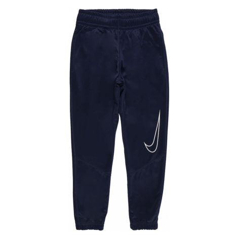 NIKE Športové nohavice  biela / námornícka modrá