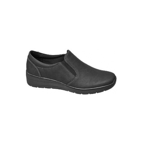Čierna komfortná slip-on obuv Easy Street