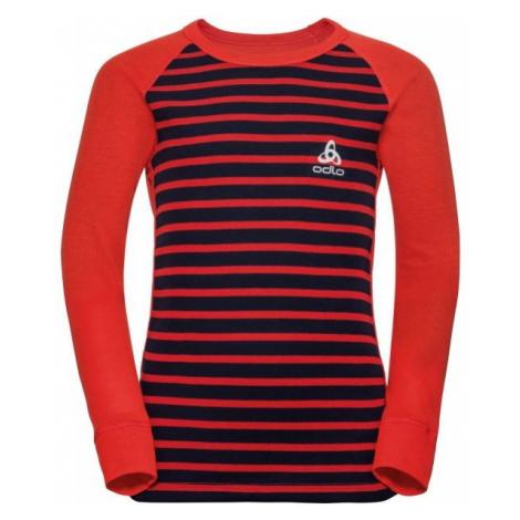 Odlo BL TOP CREW NECK L/S ACTIVE WARM KIDS červená - Detské tričko s dlhým rukávom