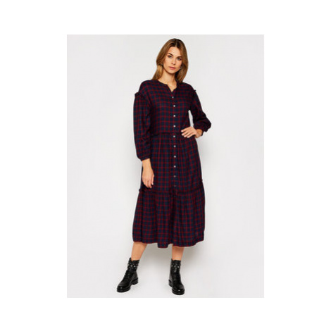 Tommy Hilfiger Košeľové šaty Bea Tartan WW0WW29289 Farebná Relaxed Fit