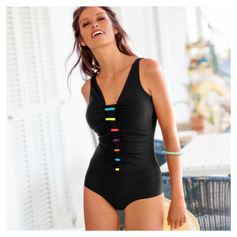 Blancheporte Jednodielne plavky, tankiny efekt čierna/viacfarebná