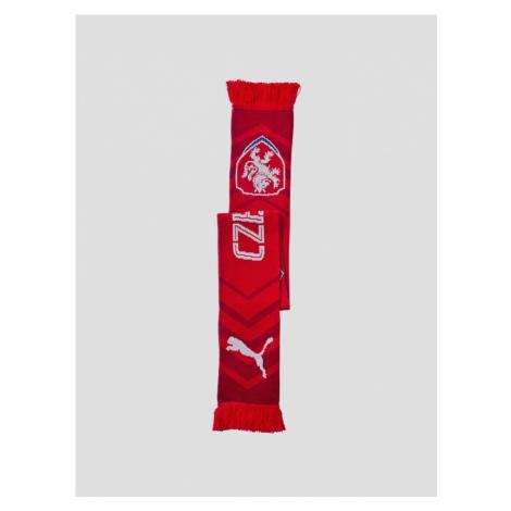 Šál Puma Czech Republic Fanscarf red-chili pepper Červená
