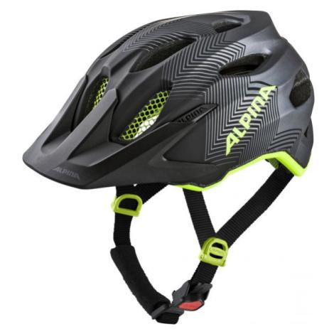 Alpina Sports CARAPAX JR. čierna - Juniorská cyklistická prilba