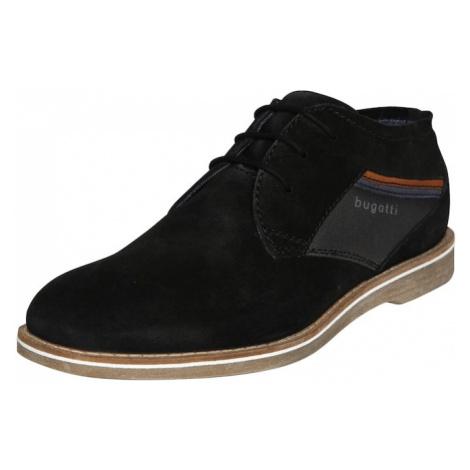 bugatti Šnurovacie topánky 'Mirocleto'  čierna