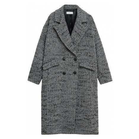 MANGO Prechodný kabát  čierna / biela