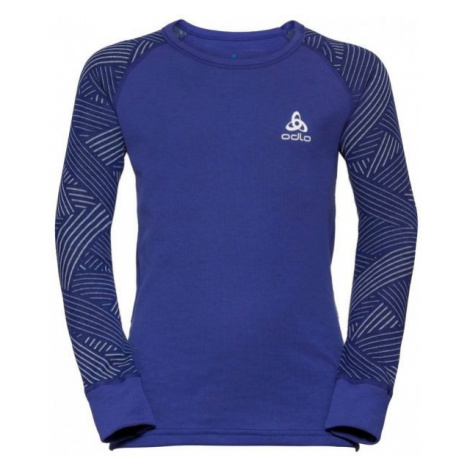 Odlo BL TOP CREW NECK L/S ACTIVE WARM TREND K fialová - Detské tričko