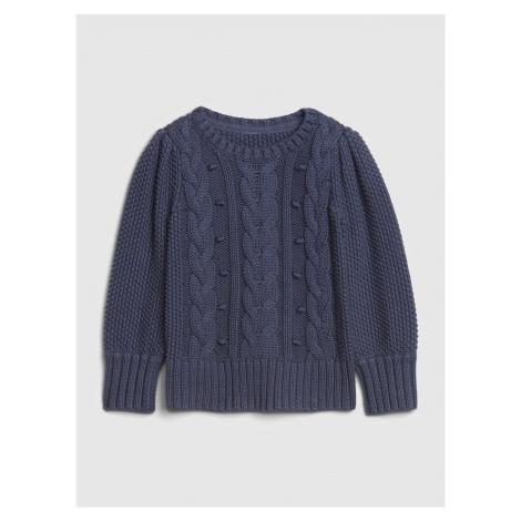 Modrý dievčenský sveter GAP