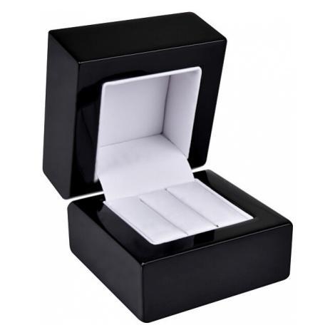 JK Box Drevená krabička na náušnice alebo snubné prstene BB-2 / NA / A25 JKbox