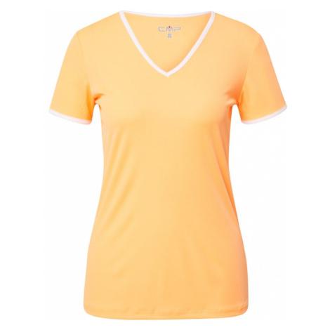 CMP Funkčné tričko  oranžová / biela