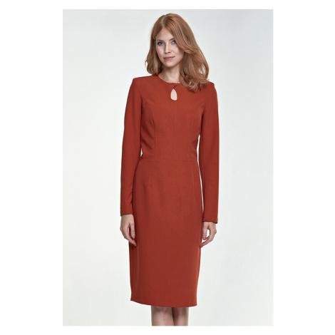 Hnedé šaty S79 Nife