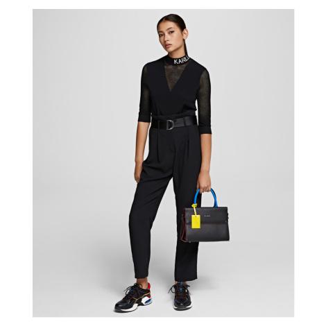 Nohavice Karl Lagerfeld Casual High-Waist Pants