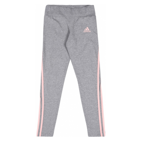 ADIDAS PERFORMANCE Športové nohavice  svetloružová / sivá melírovaná