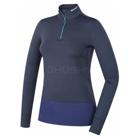 Husky Active winterlong zip modrá, Dámske termo tričko - jeseň, zima