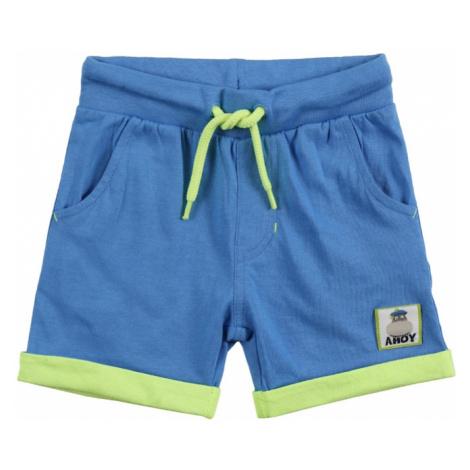 BLUE SEVEN Nohavice  kráľovská modrá / kiwi